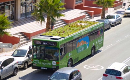Phyto Kinetic: Urbam Jungle Green-Roofed Buses