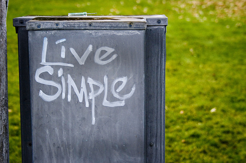 Be More Having Less: Live Simple