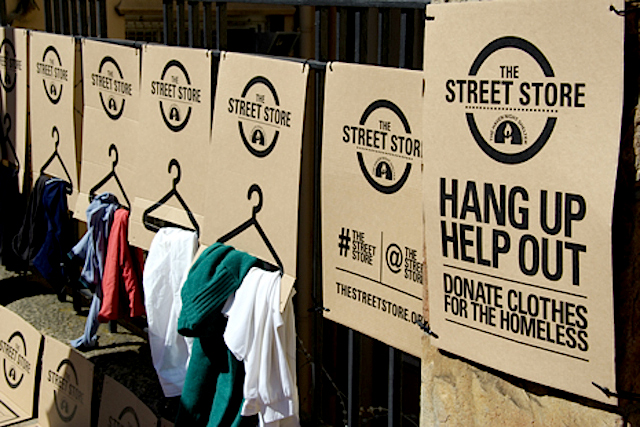 The Street Store: Hang Up and Help Out